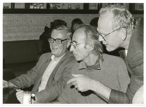 Peter Rühmkorf mit Peter-Paul Schneider in Marbach, 23.09.1992 © Deutsches Literaturarchiv Marbach